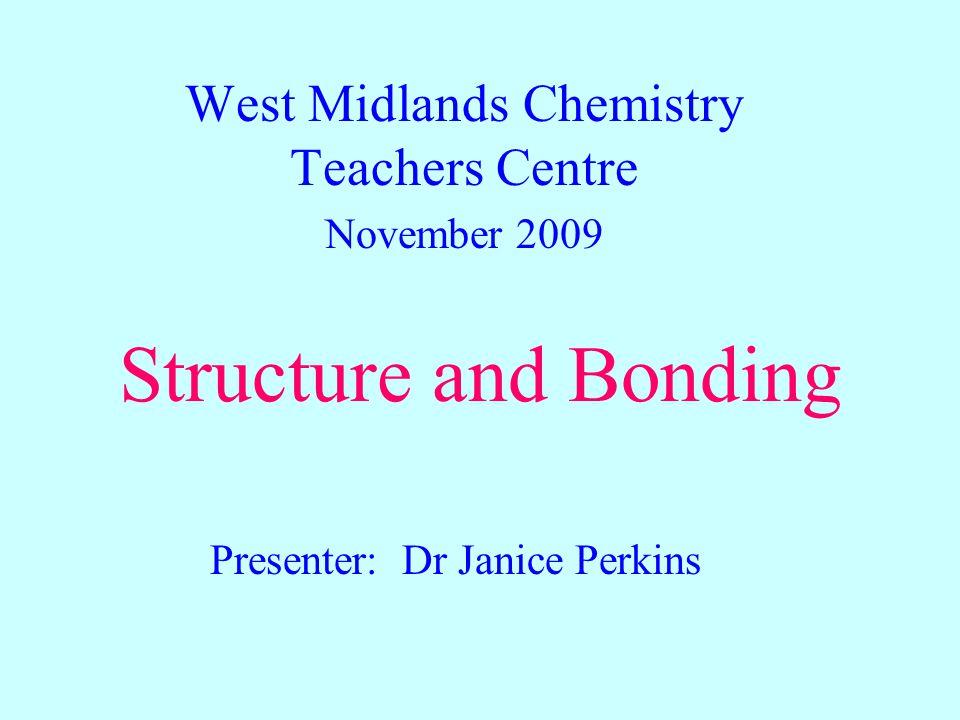 West Midlands Chemistry Teachers Centre November 2009