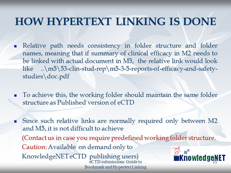 HOW HYPERTEXT LINKING IS DONE