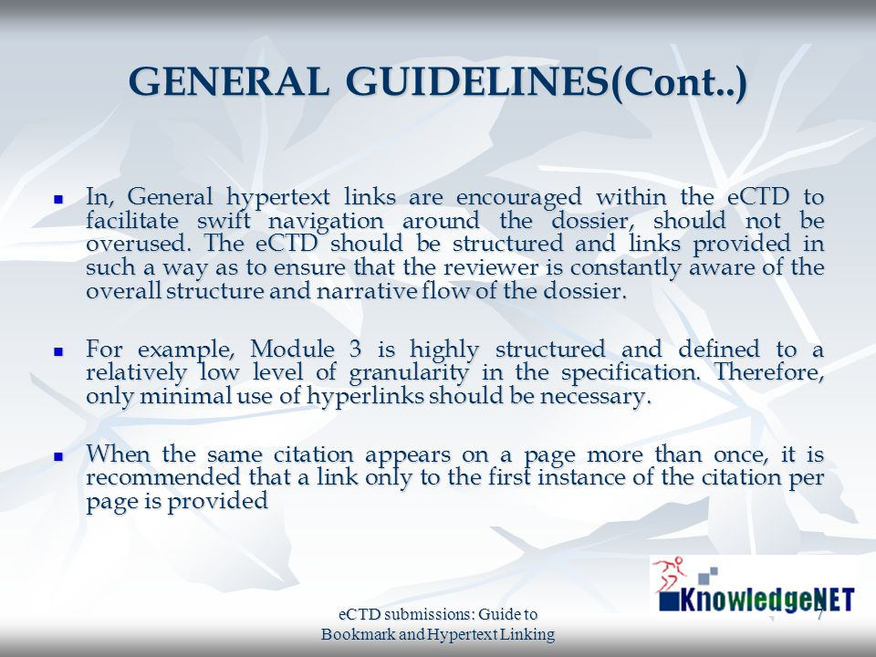 GENERAL GUIDELINES(Cont..)