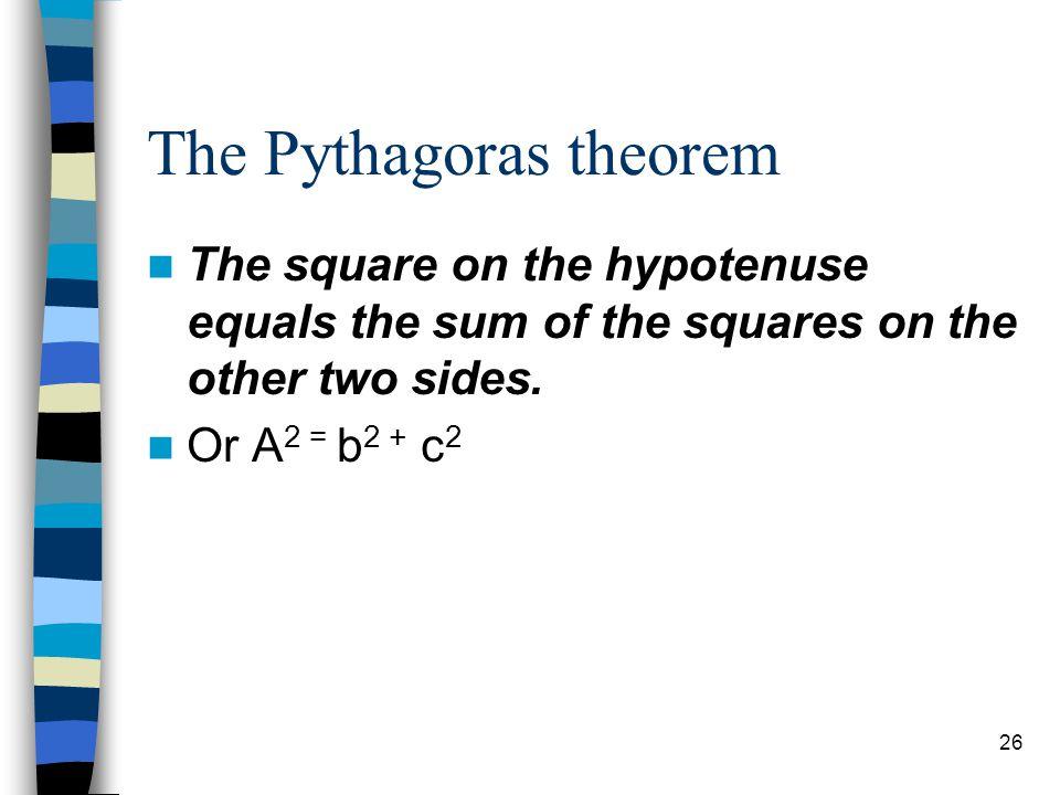 The Pythagoras theorem