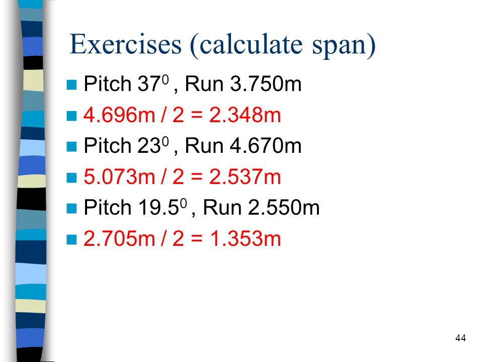 Exercises (calculate span)
