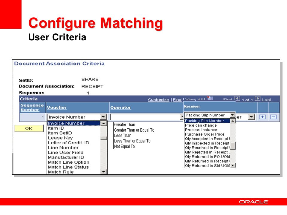 Configure Matching User Criteria