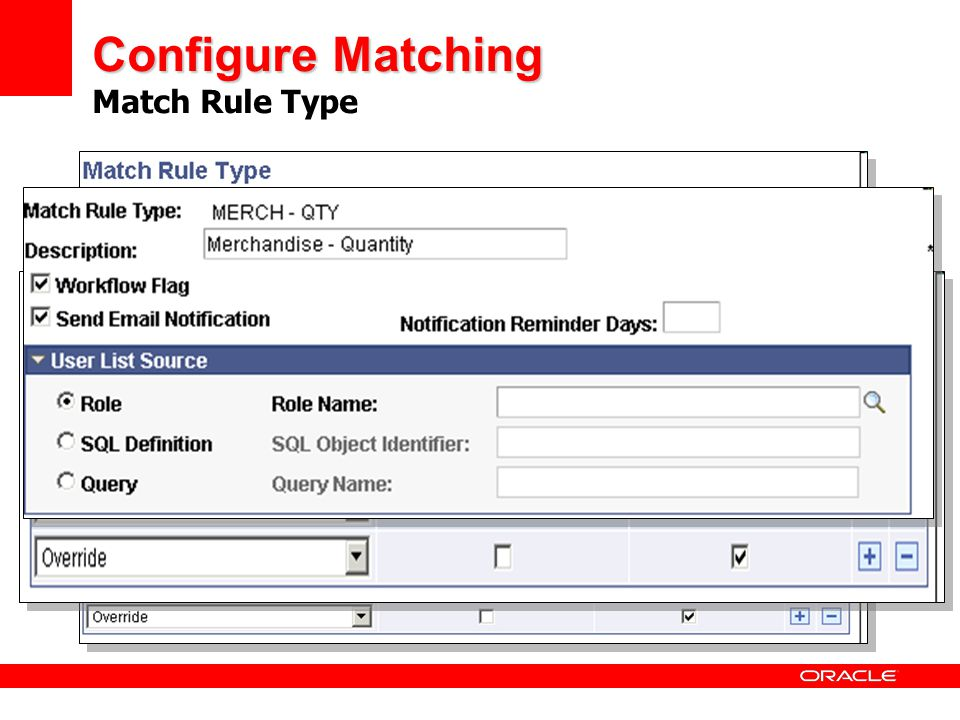 Configure Matching Match Rule Type