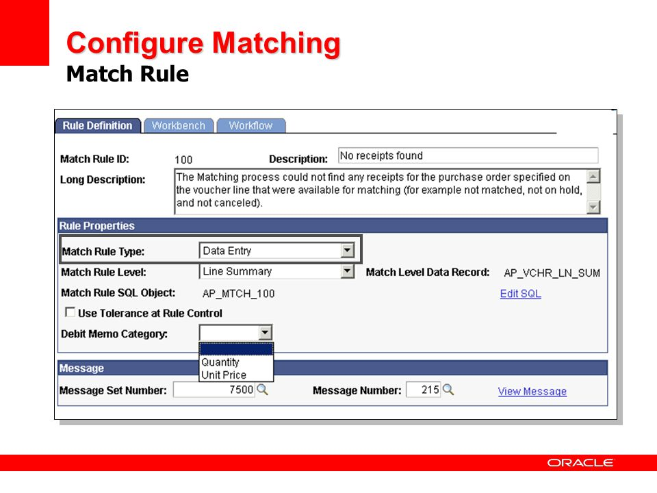 Configure Matching Match Rule
