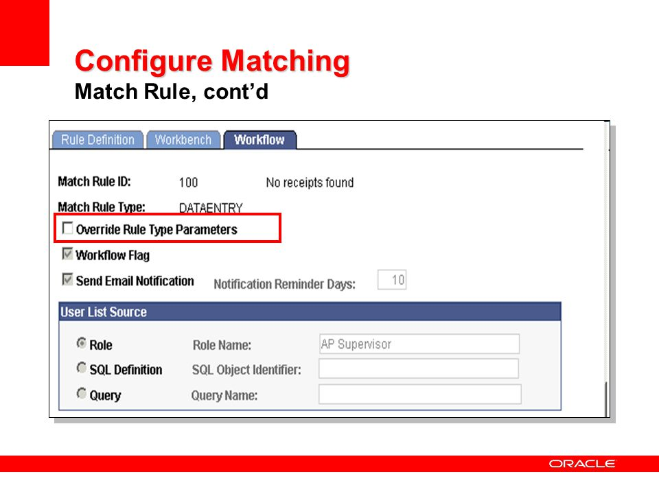 Configure Matching Match Rule, cont'd