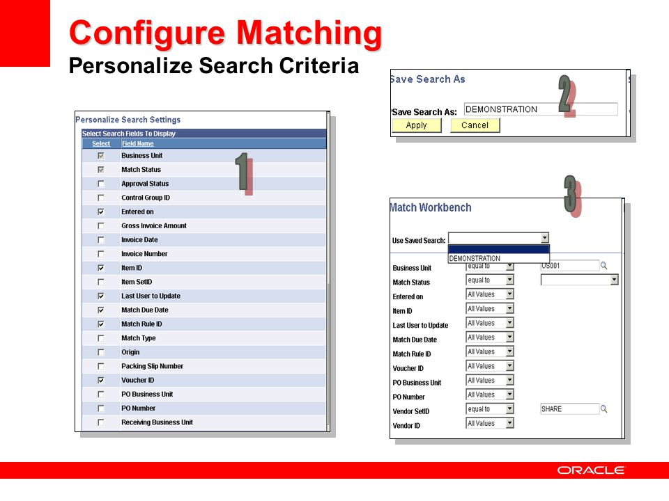 Configure Matching Personalize Search Criteria
