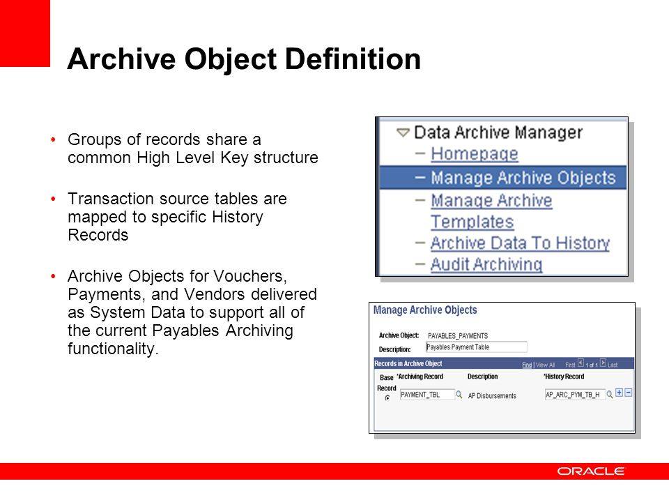 Archive Object Definition