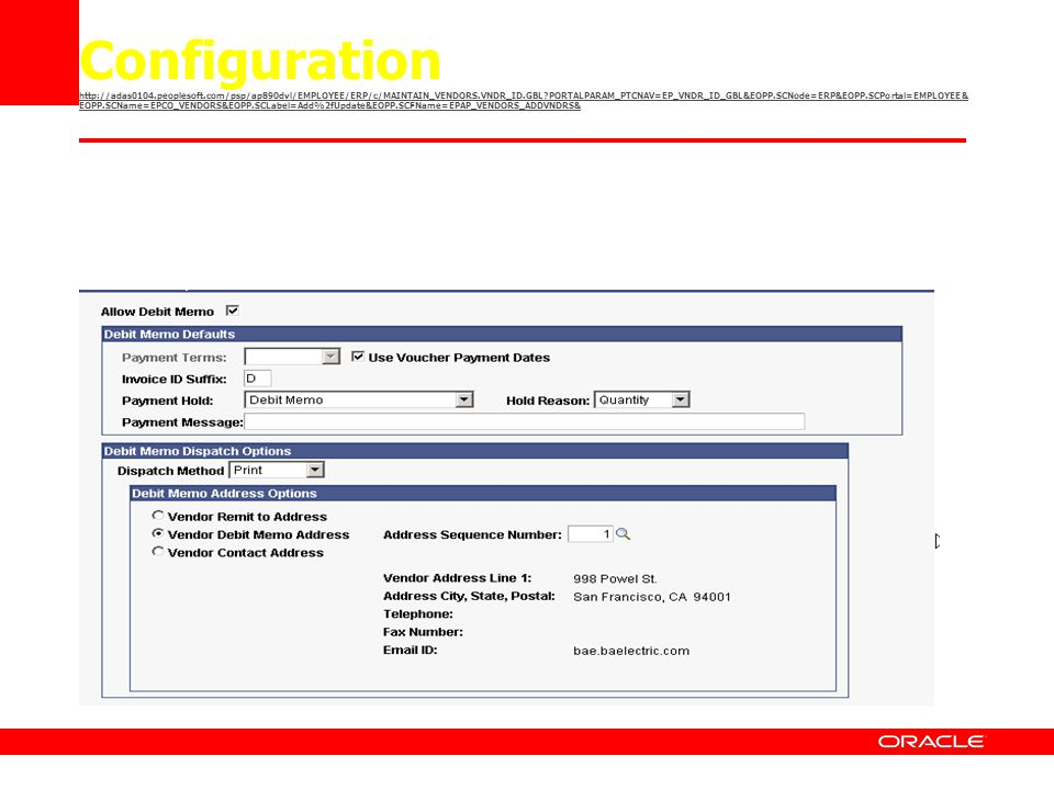 Configuration   peoplesoft