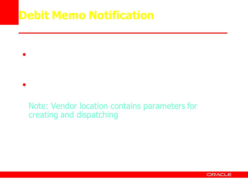 Debit Memo Notification