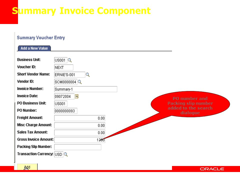 Summary Invoice Component