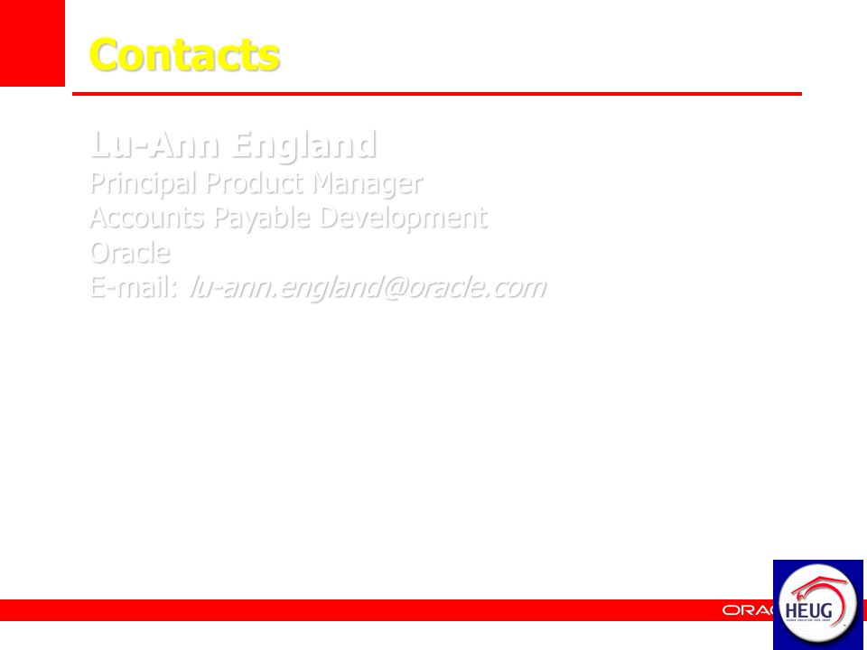 Contacts Lu-Ann England Principal Product Manager