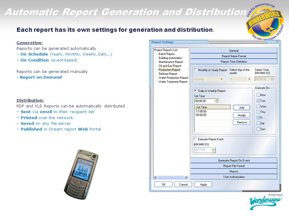 Automatic Report Generation and Distribution