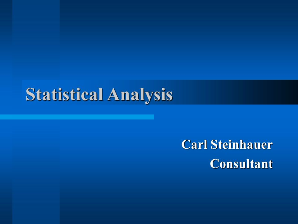 Carl Steinhauer Consultant
