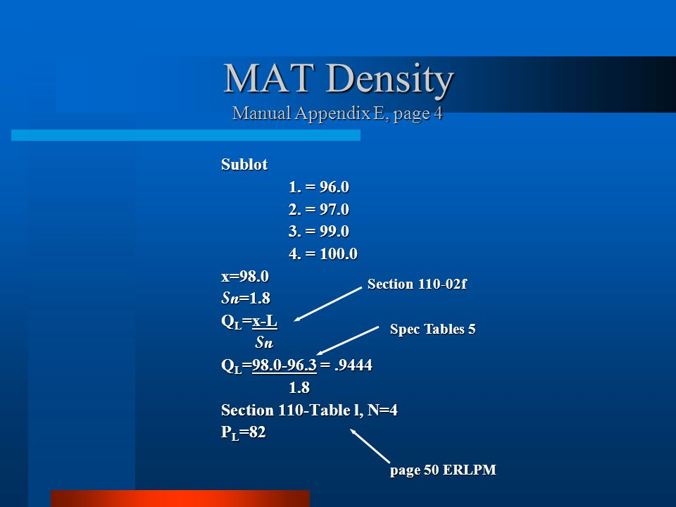 MAT Density Manual Appendix E, page 4