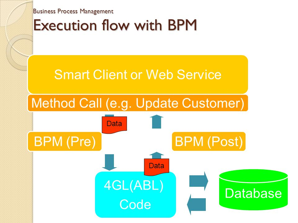 Business Process Management Execution flow with BPM