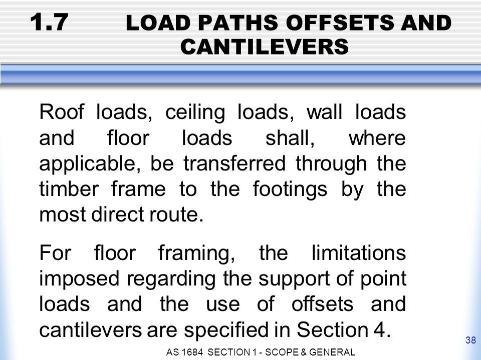1.7 LOAD PATHS OFFSETS AND CANTILEVERS