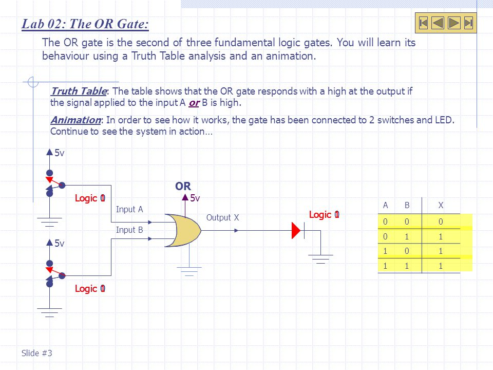 Lab 02: The OR Gate: