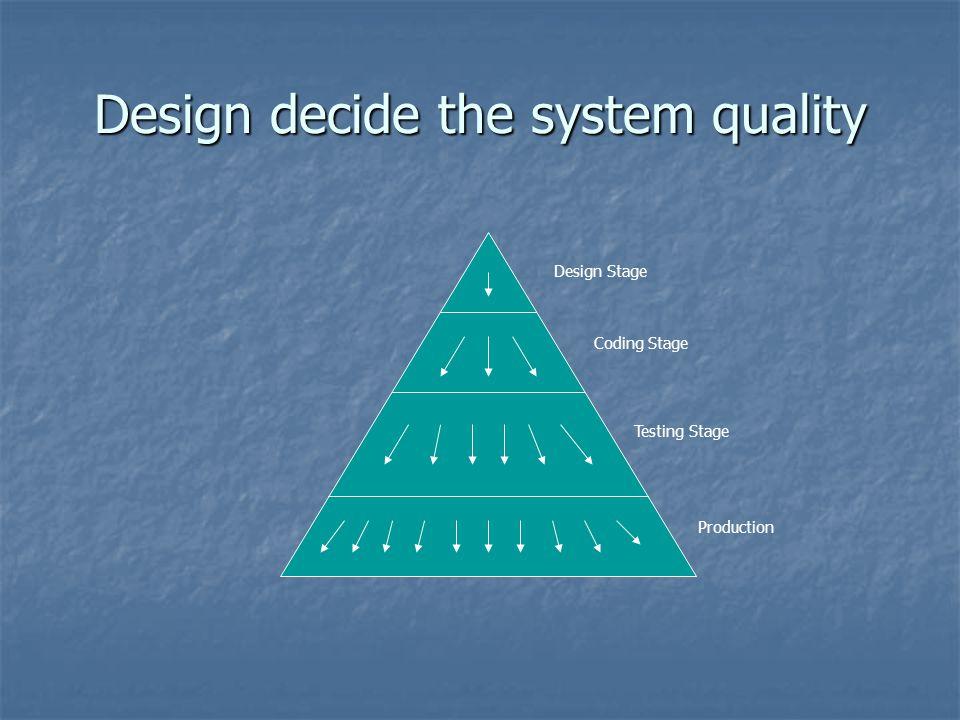 Design decide the system quality