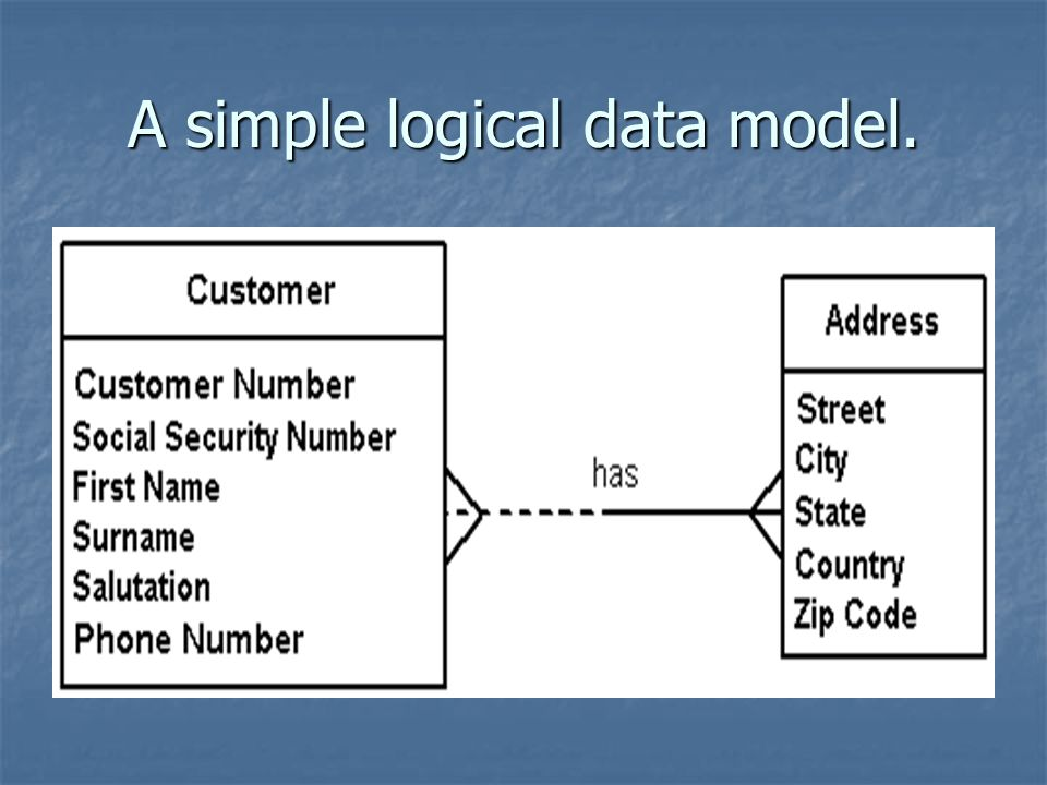 A simple logical data model.