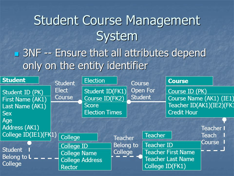 Student Course Management System