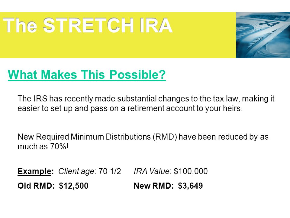 The STRETCH IRA What Makes This Possible