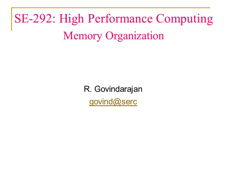 SE-292: High Performance Computing