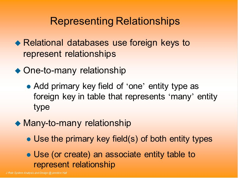 Representing Relationships