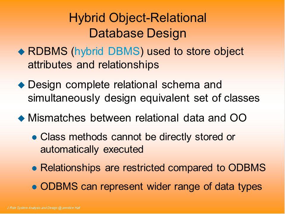 Hybrid Object-Relational Database Design