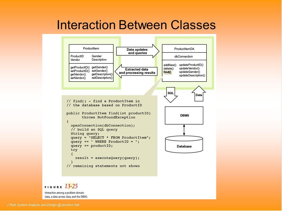 Interaction Between Classes