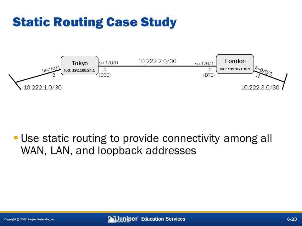 Static Routing Case Study