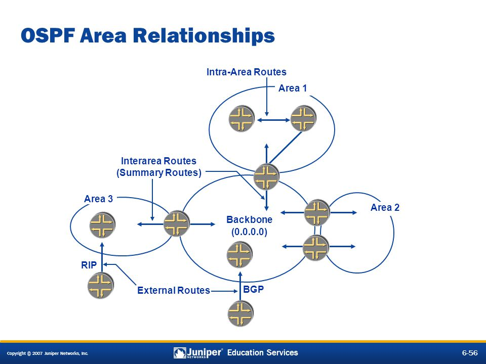 OSPF Area Relationships