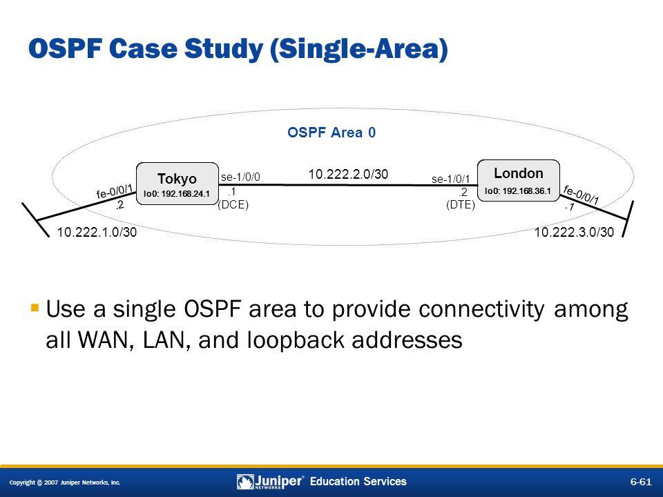 OSPF Case Study (Single-Area)