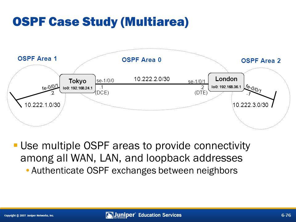 OSPF Case Study (Multiarea)