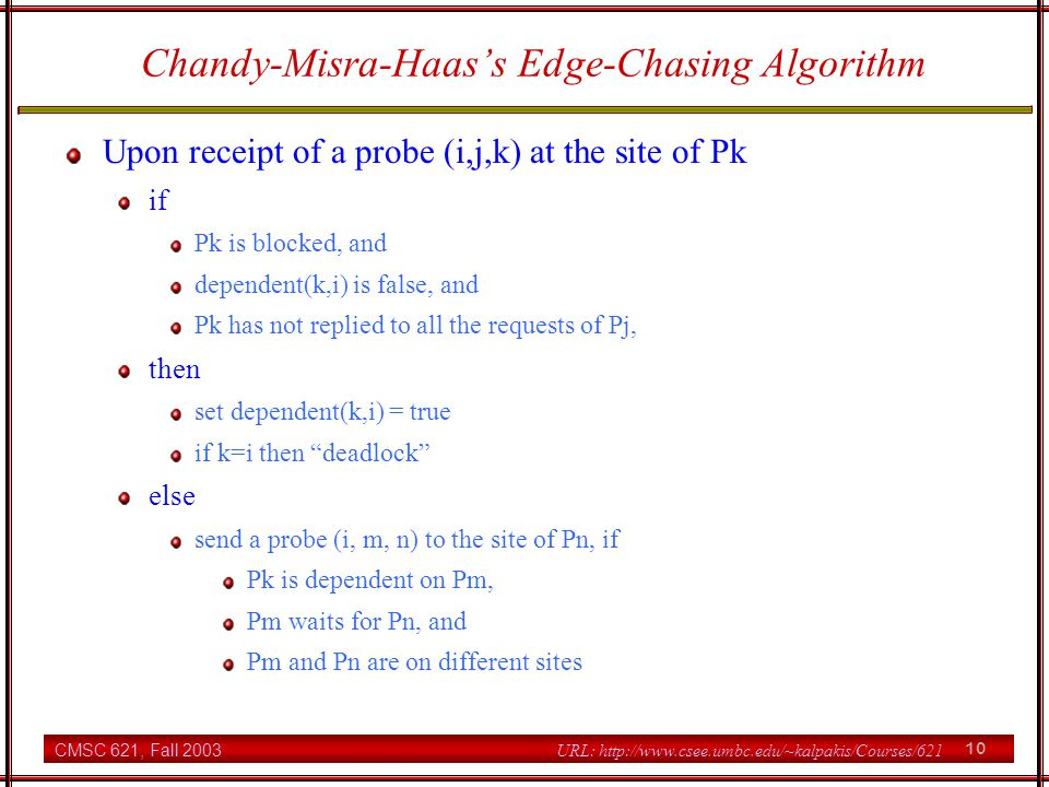 Chandy-Misra-Haas's Edge-Chasing Algorithm