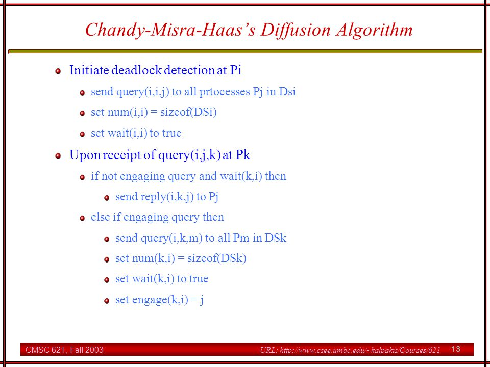 Chandy-Misra-Haas's Diffusion Algorithm