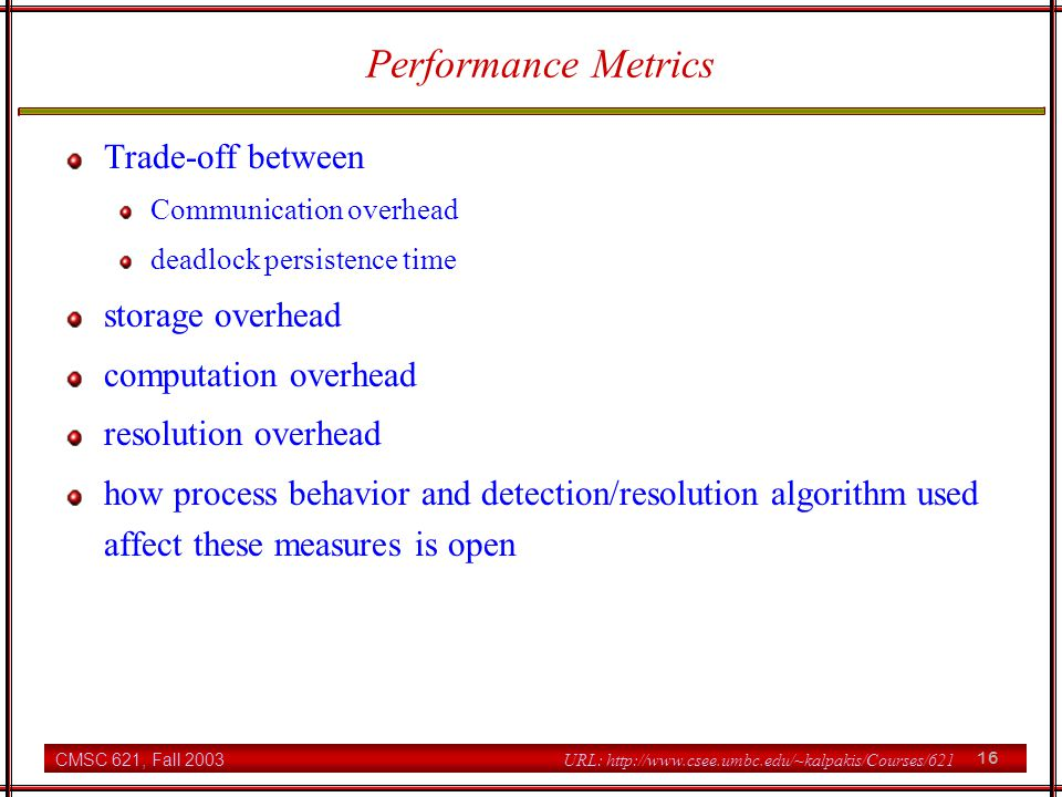 Performance Metrics Trade-off between storage overhead