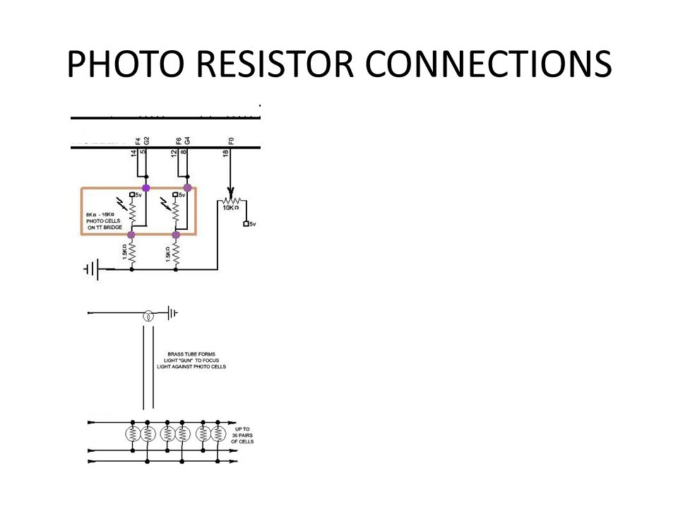 PHOTO RESISTOR CONNECTIONS