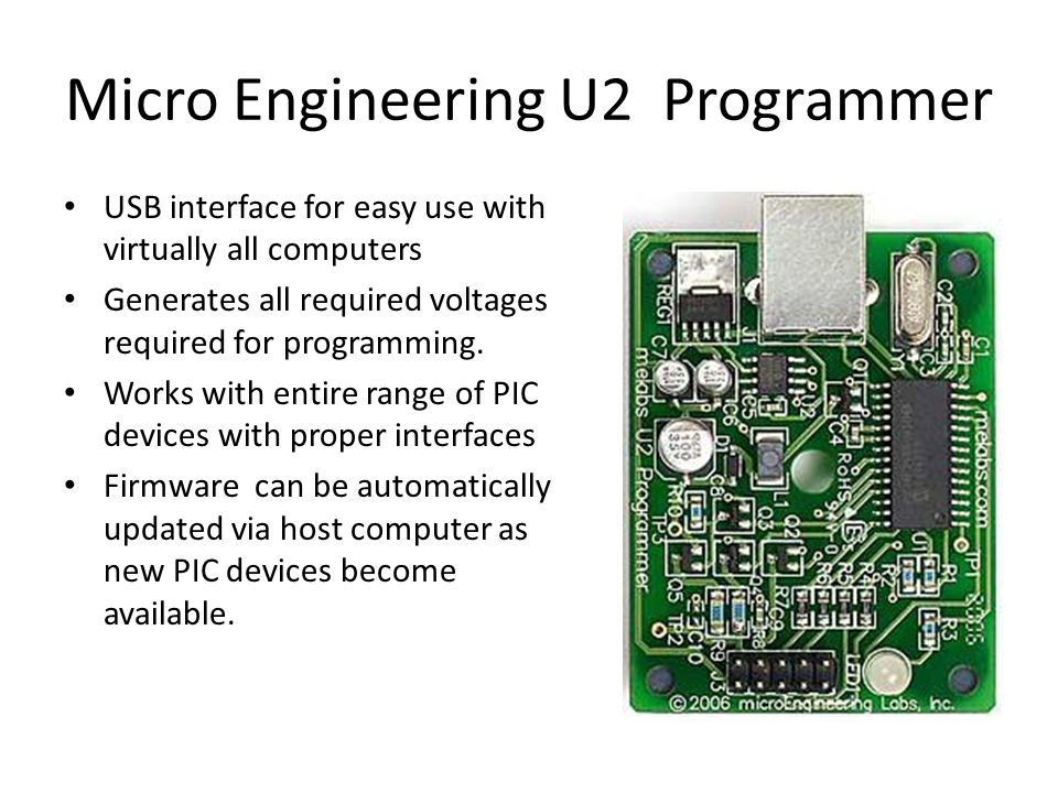 Micro Engineering U2 Programmer
