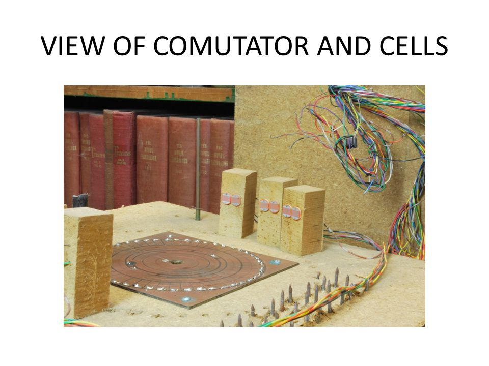VIEW OF COMUTATOR AND CELLS