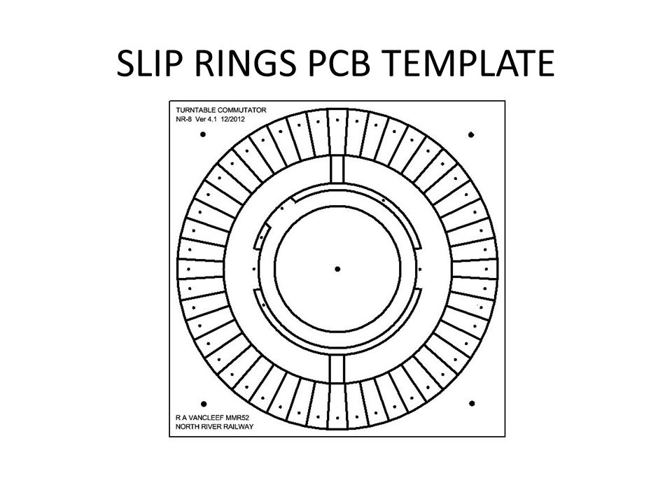 SLIP RINGS PCB TEMPLATE