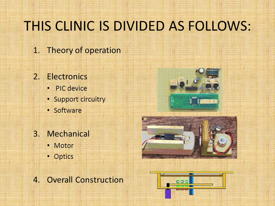 THIS CLINIC IS DIVIDED AS FOLLOWS: