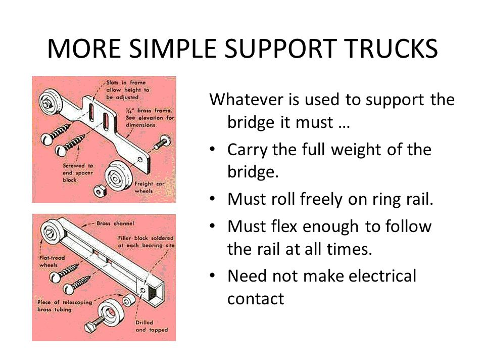 MORE SIMPLE SUPPORT TRUCKS