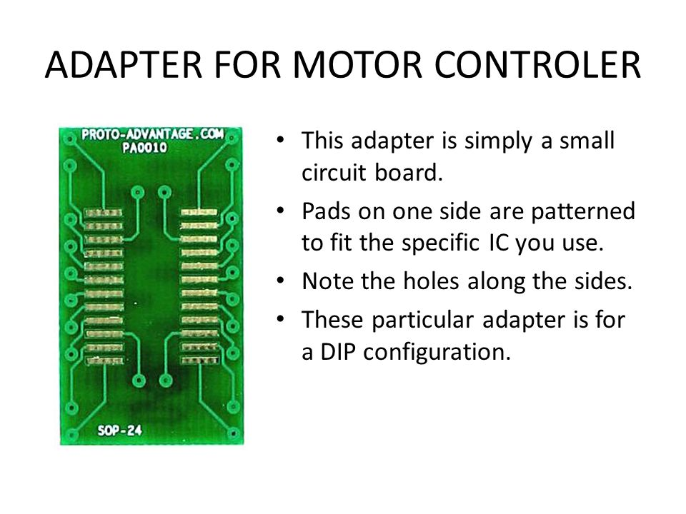 ADAPTER FOR MOTOR CONTROLER
