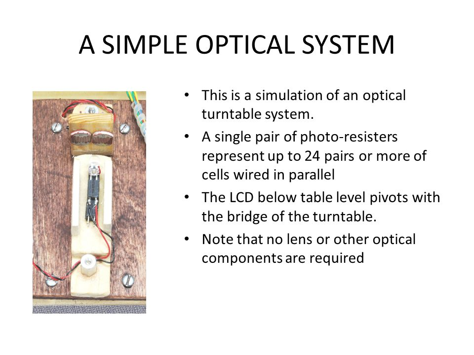 A SIMPLE OPTICAL SYSTEM