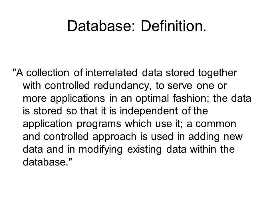 Database: Definition.