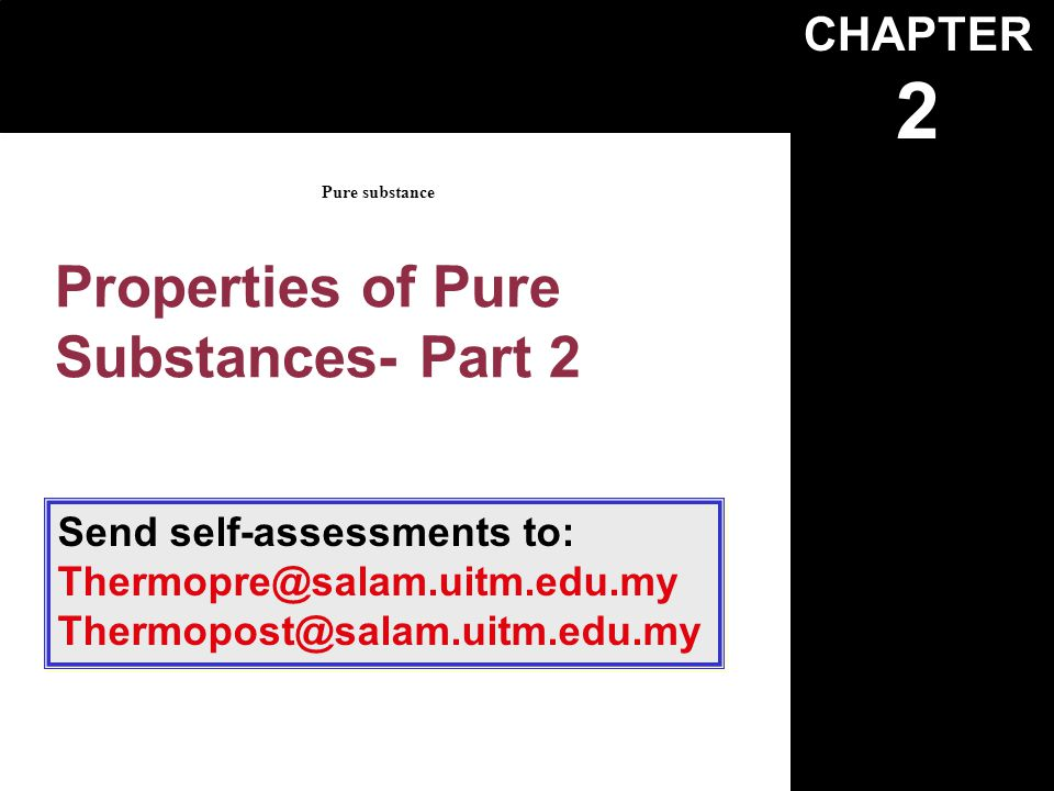Properties of Pure Substances- Part 2