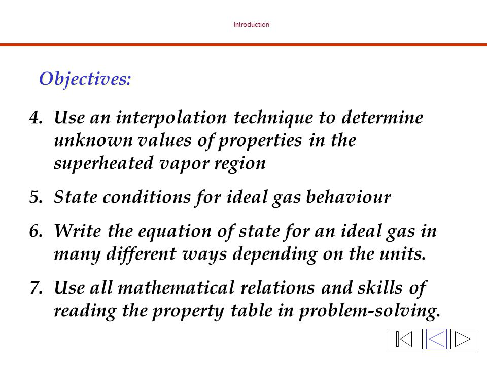 State conditions for ideal gas behaviour