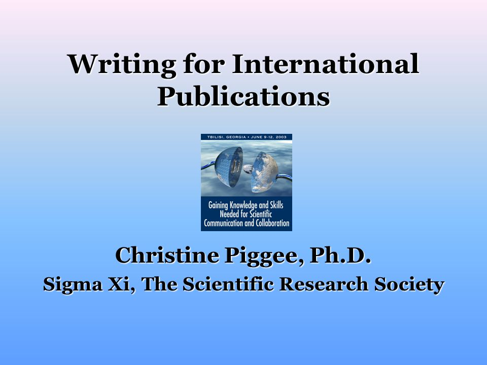 Writing for International Publications