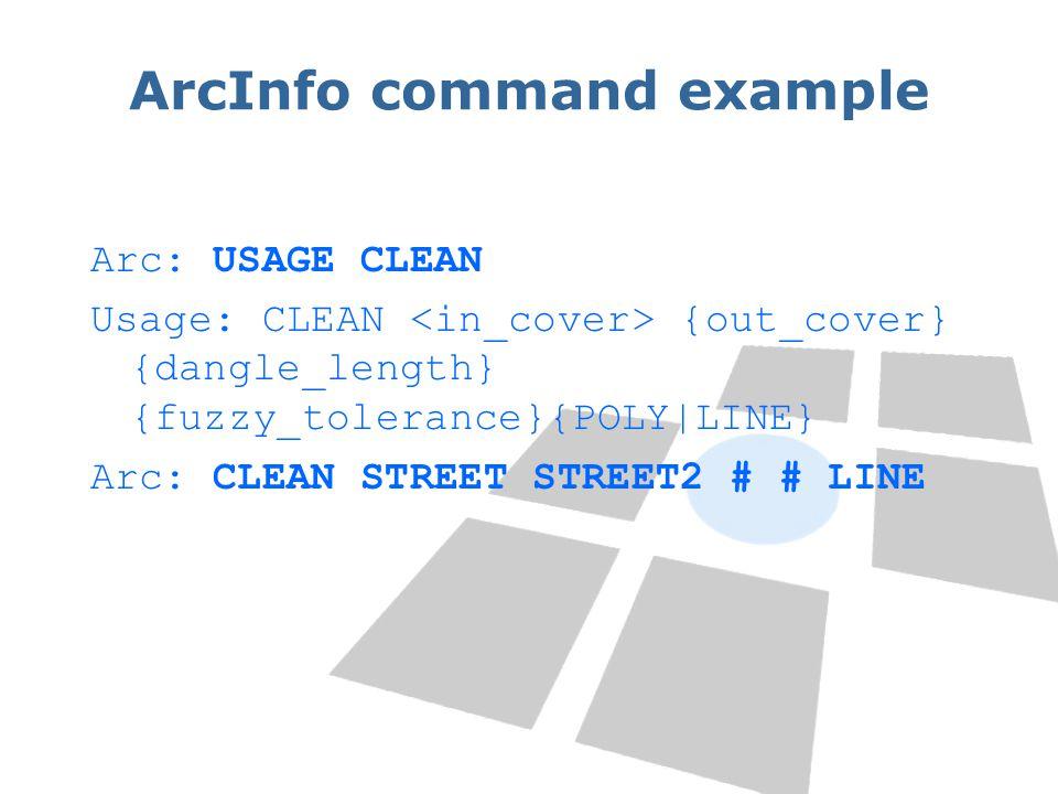 ArcInfo command example