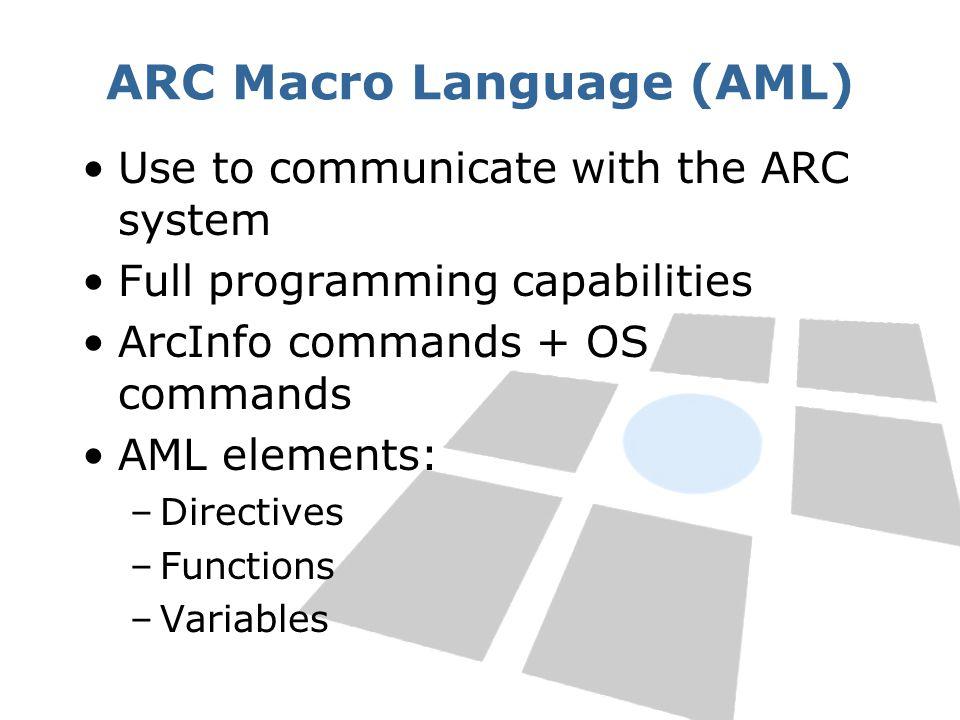 ARC Macro Language (AML)